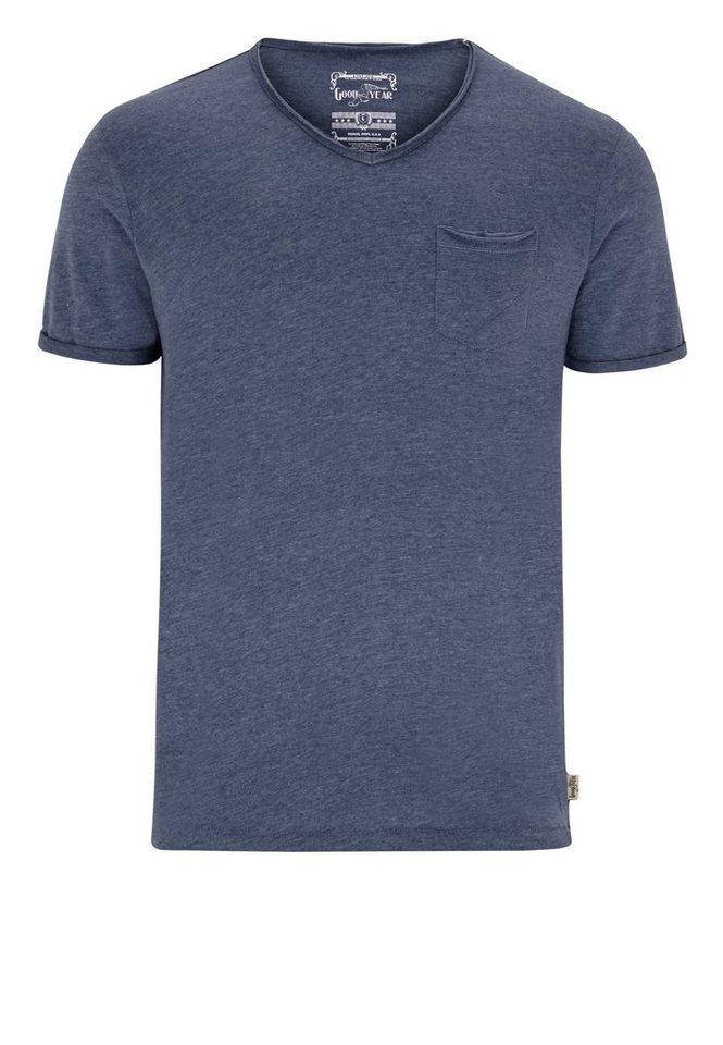 Goodyear T-Shirt »HENRICO« in Marl Navy