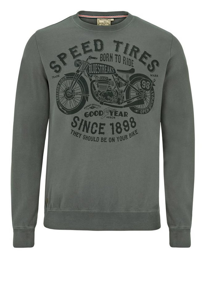 Goodyear Sweatshirt »ABINGDON« in Ash Grey