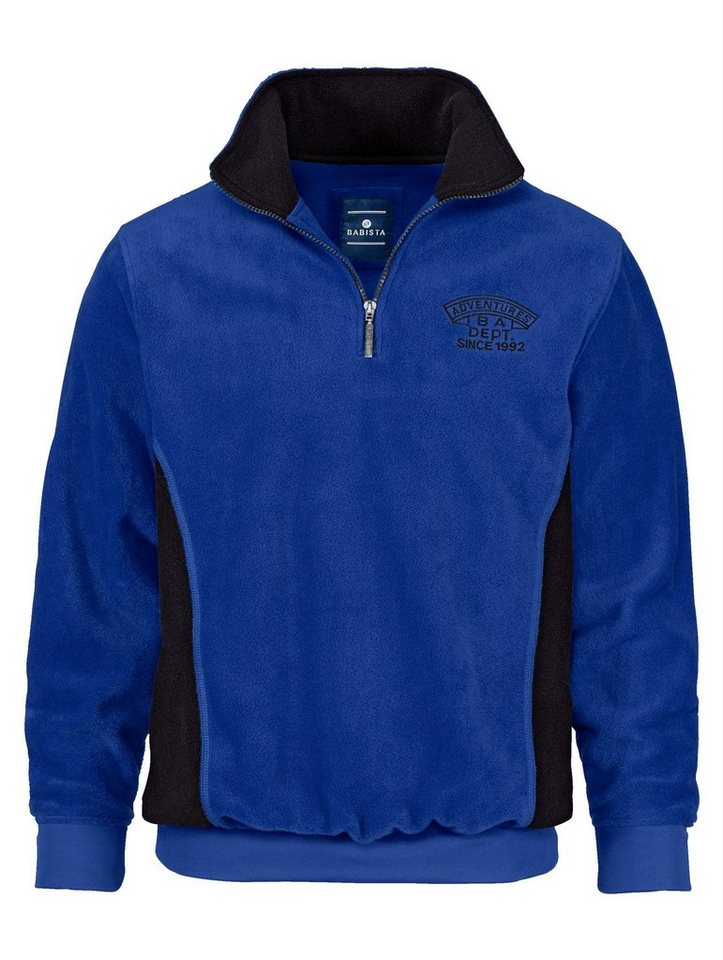 Babista Fleece-Sweatshirt mit Antipilling-Effekt in blau
