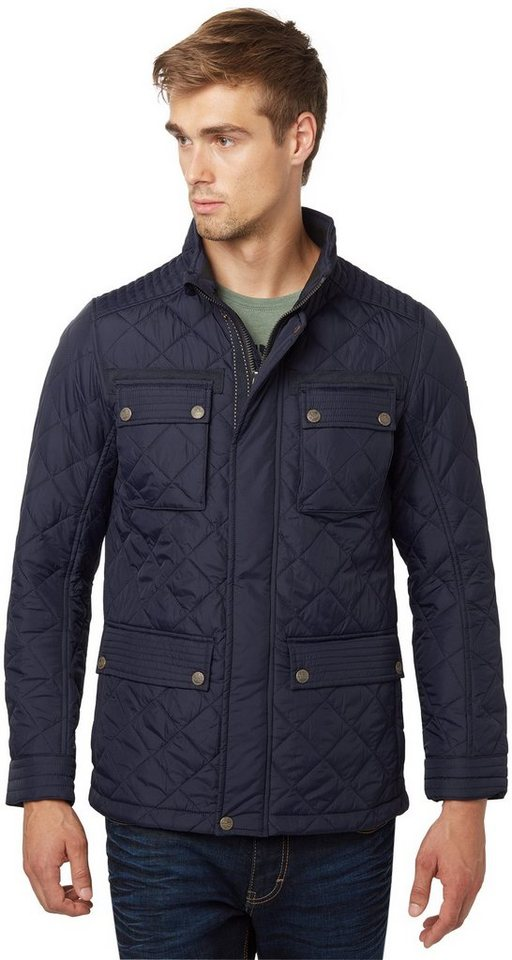 TOM TAILOR Jacke »quilted fieldjacket« in knitted navy