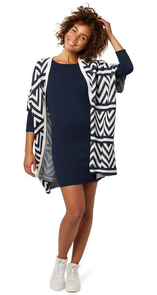 TOM TAILOR DENIM Kleid »structured bodycon dress« in sky captain blue