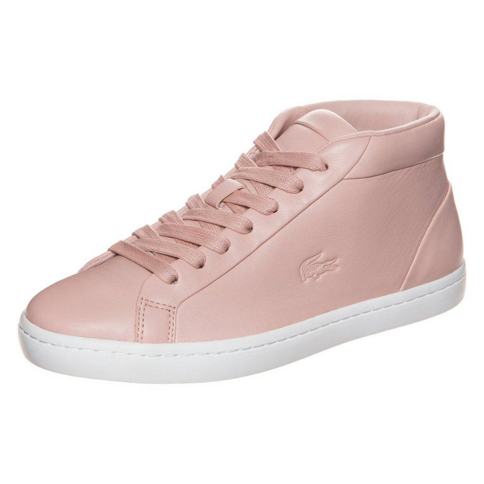 LACOSTE Straightset Chukka Sneaker Damen in rosa