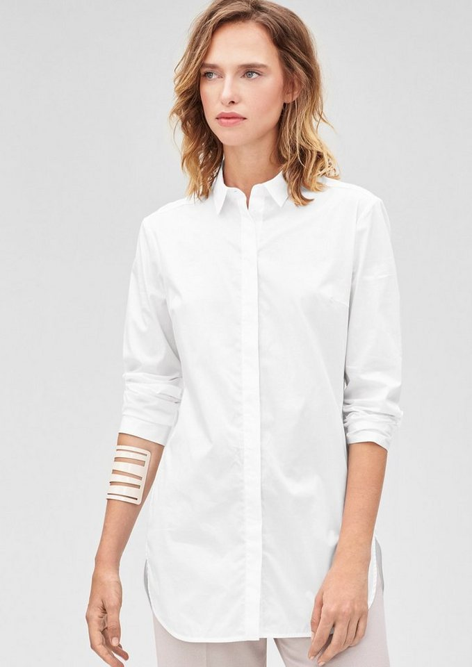 s.Oliver BLACK LABEL  Stretchige Longbluse in white