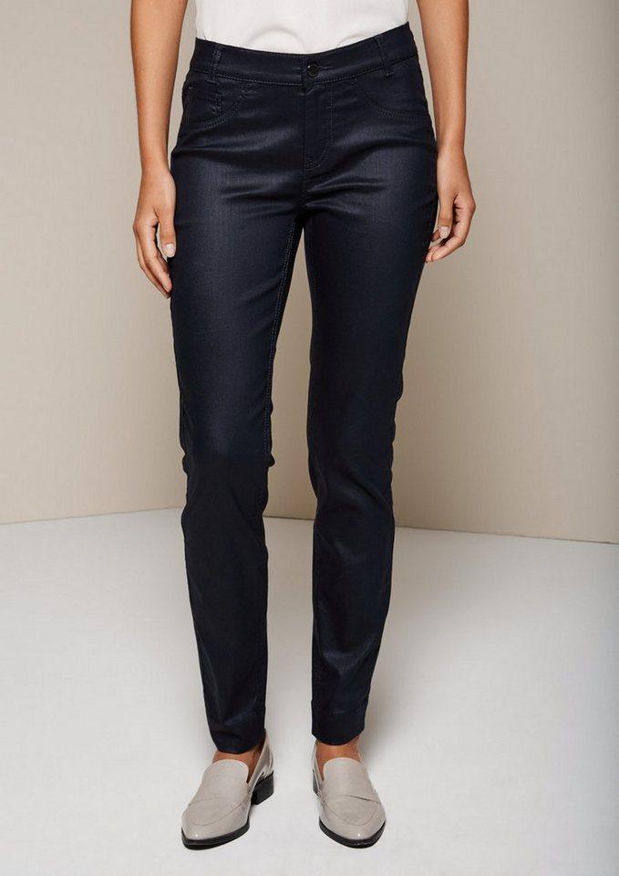 COMMA Legere Jeans mit matt glänzender Beschichtung in tinte