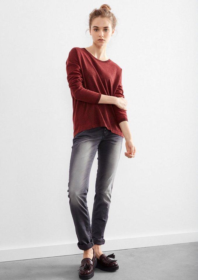 Q/S designed by Catie Slim: Jeans mit Farbeffekt in asphalt