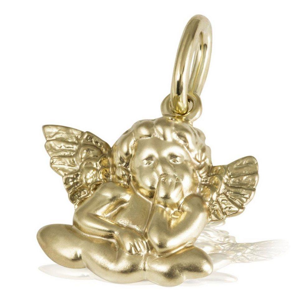 goldmaid Anhänger Verträumter Engel 375/- Gelbgold in goldfarben