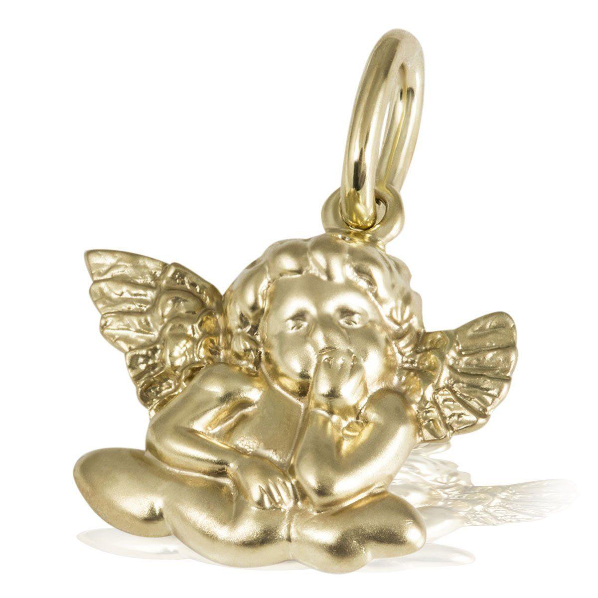 goldmaid Anhänger Verträumter Engel 375/- Gelbgold