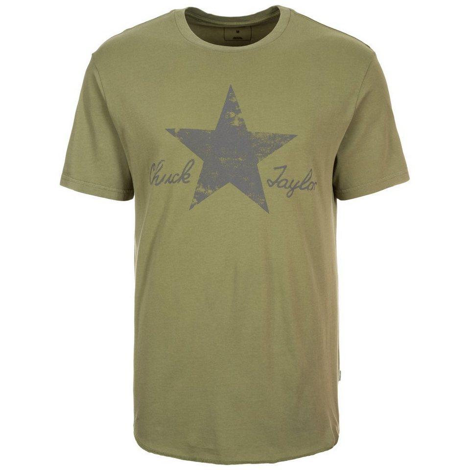 CONVERSE Washed Reflective T-Shirt Herren in khaki / grau