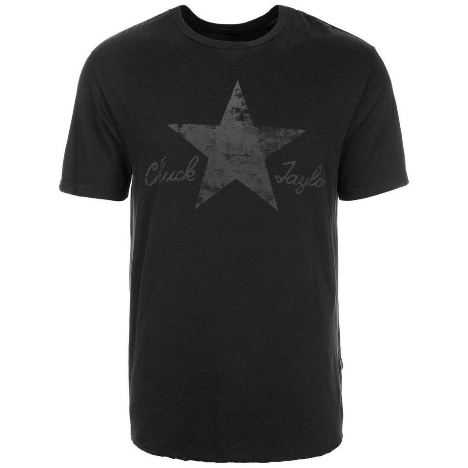CONVERSE Washed Reflective T-Shirt Herren in schwarz / grau