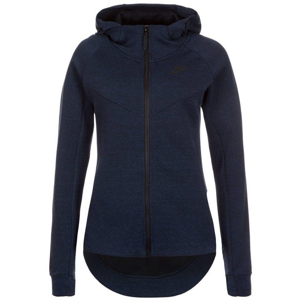 Nike Sportswear Tech Fleece Kapuzenjacke Damen in dunkelblau / schwarz