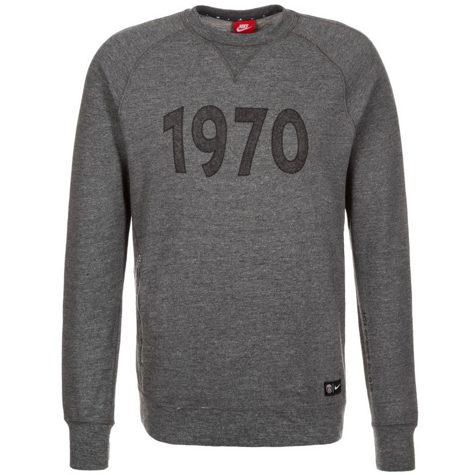 NIKE Paris St.-Germain Crew Authentic Sweatshirt Herren in anthrazit