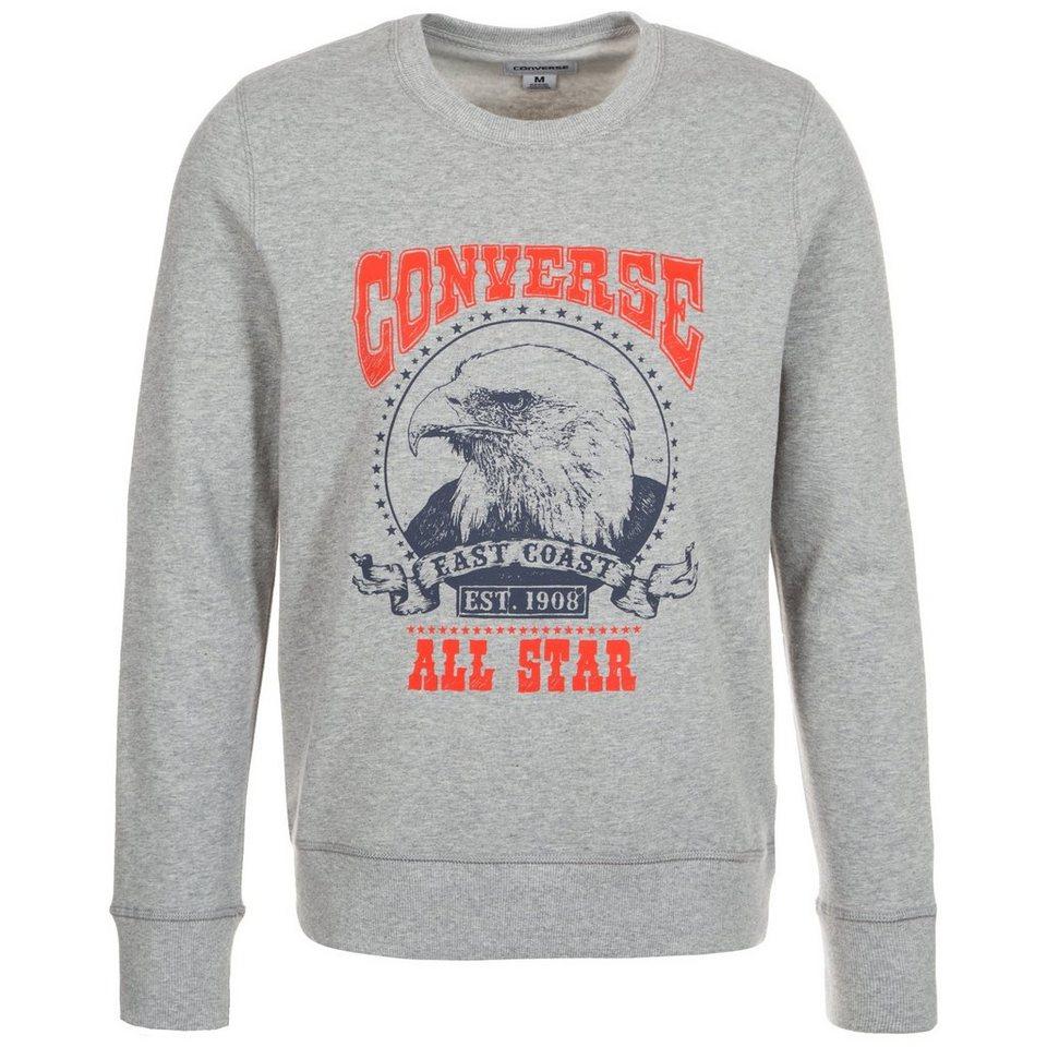 CONVERSE Heritage Graphic Crew Sweatshirt Herren in grau / rot / blau