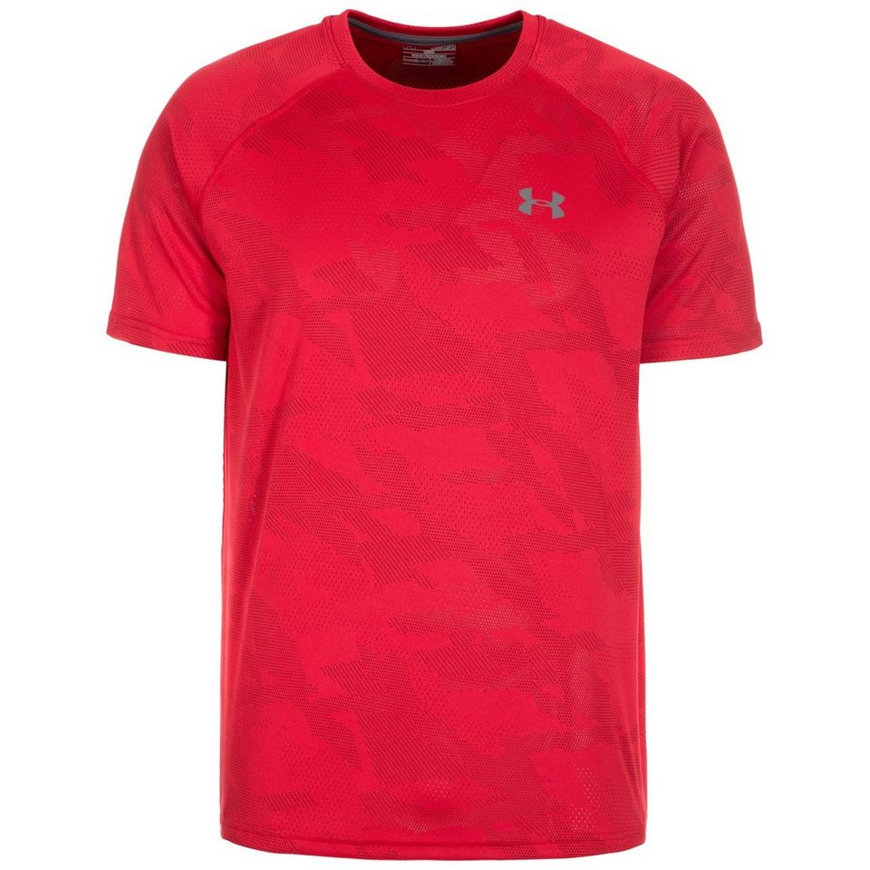 Under Armour® HeatGear Tech Jacquard Trainingsshirt Herren in rot