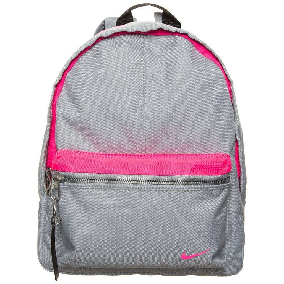 NIKE Classic Sportrucksack Kinder in grau / pink
