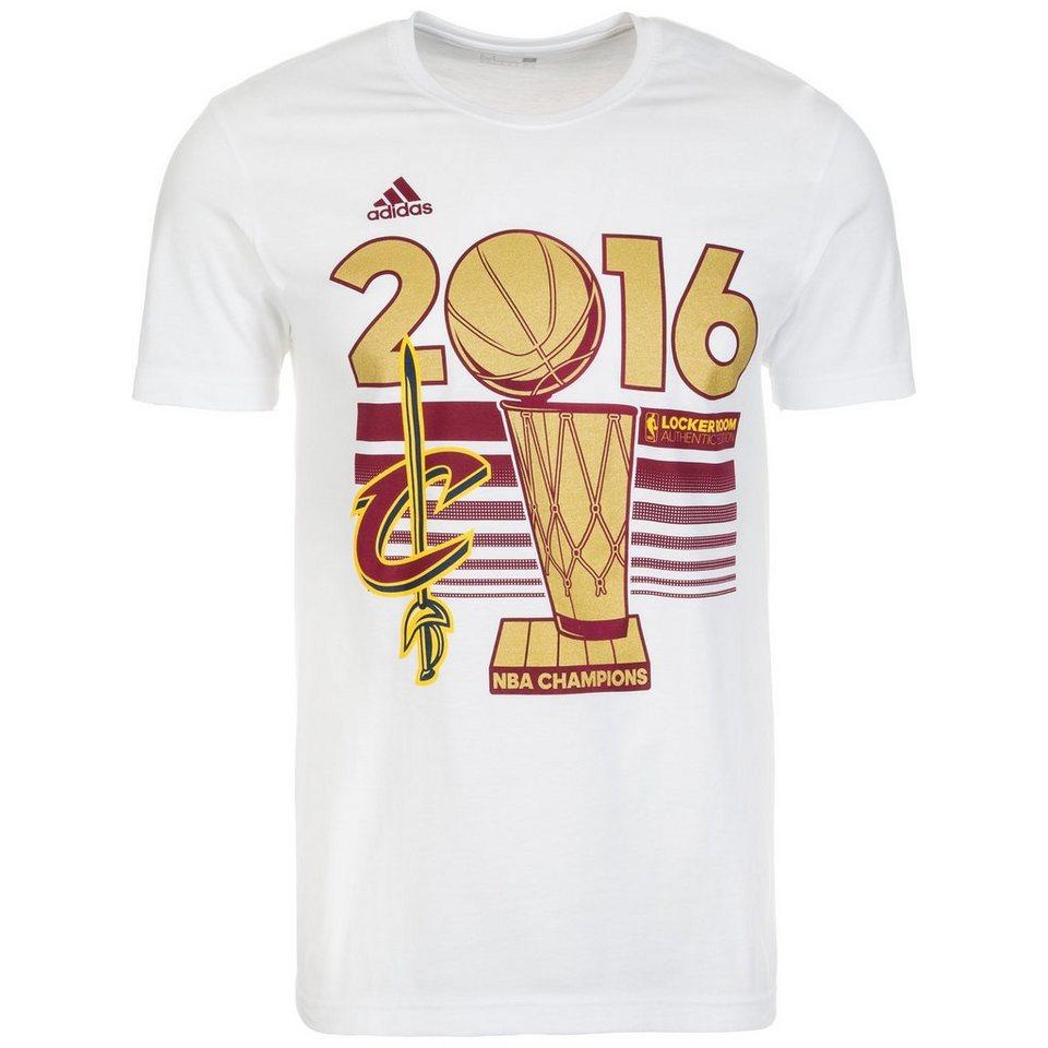 adidas Performance Cleveland Cavaliers NBA Champion T-Shirt Herren in weiß