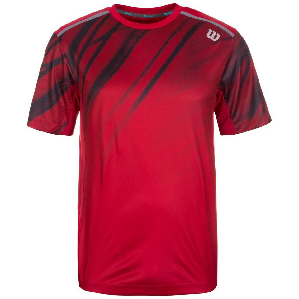 WILSON Print Crew Formula Tennisshirt Herren in rot / anthrazit