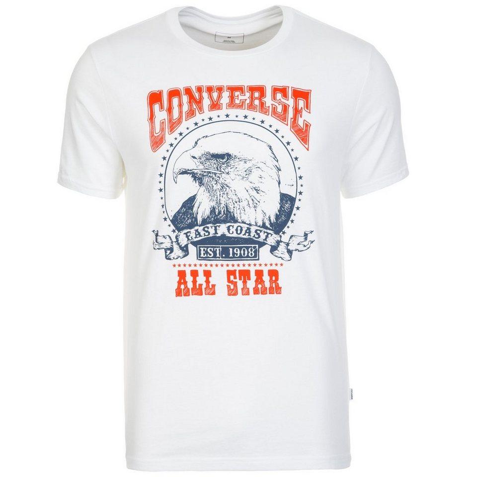 CONVERSE Eagle Music Heritage T-Shirt Herren in weiß / rot / blau
