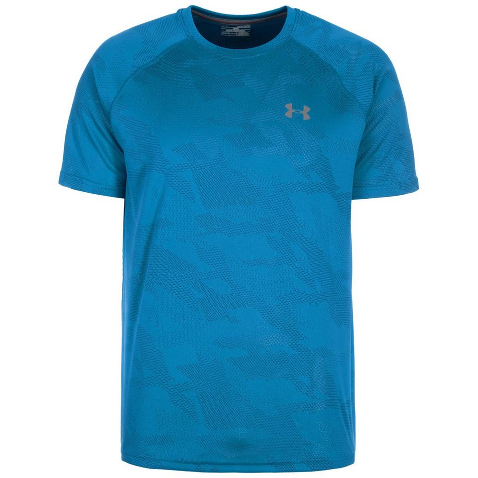 Under Armour® HeatGear Tech Jacquard Trainingsshirt Herren in blau