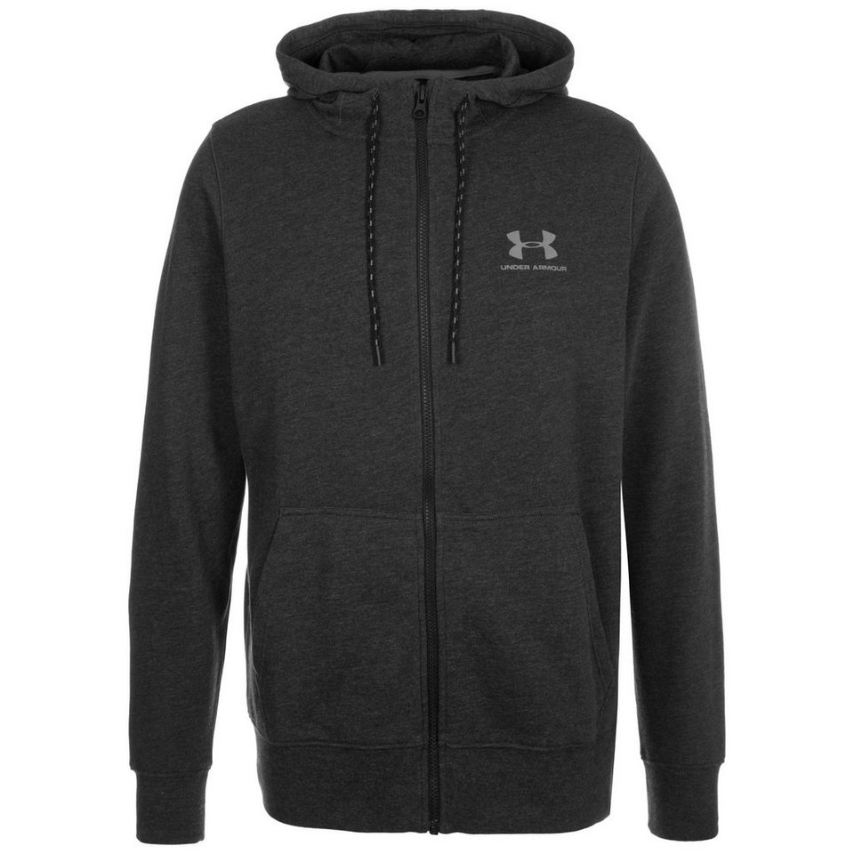 Under Armour® ColdGear Tri-Blend Fleece Trainingskapuzenjacke Herren in anthrazit / schwarz