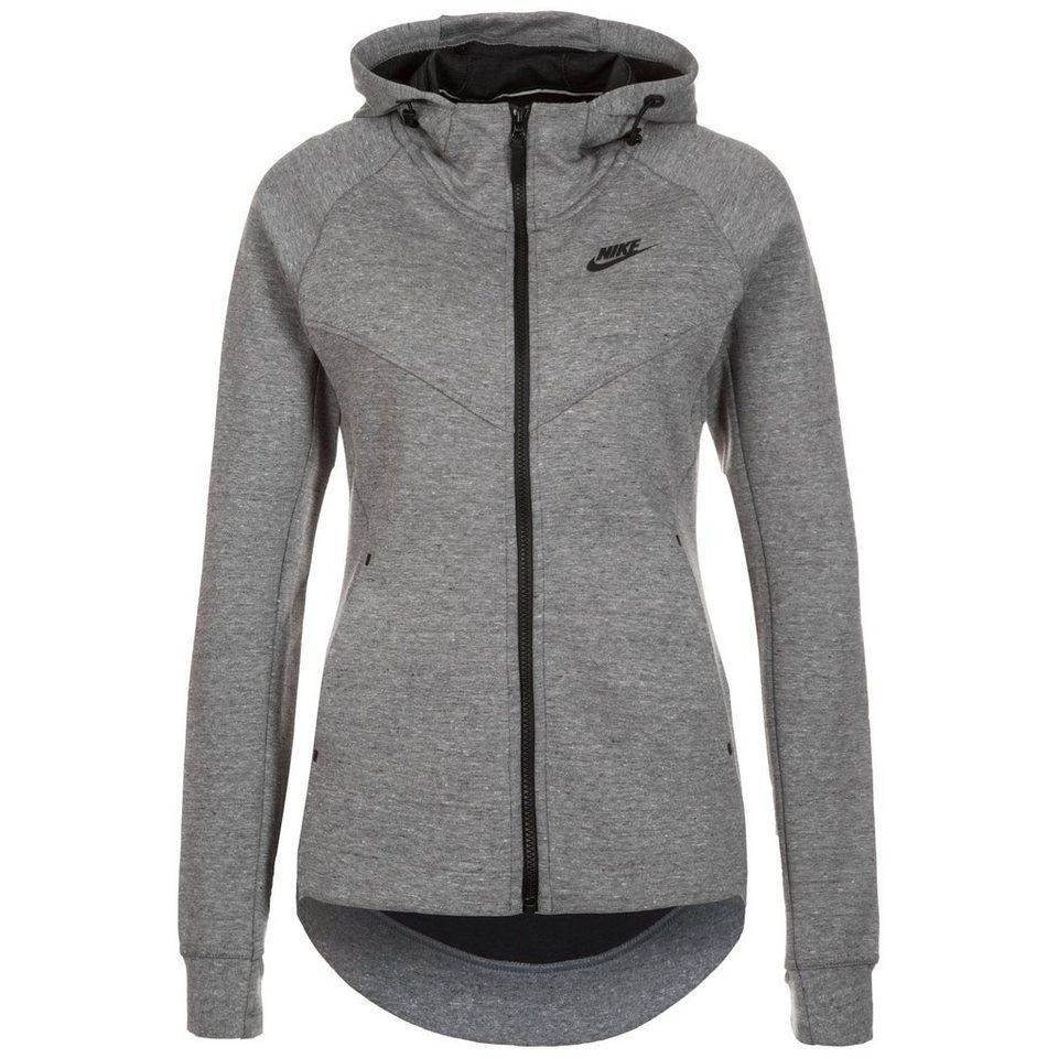 Nike Sportswear Tech Fleece Kapuzenjacke Damen in grau / schwarz