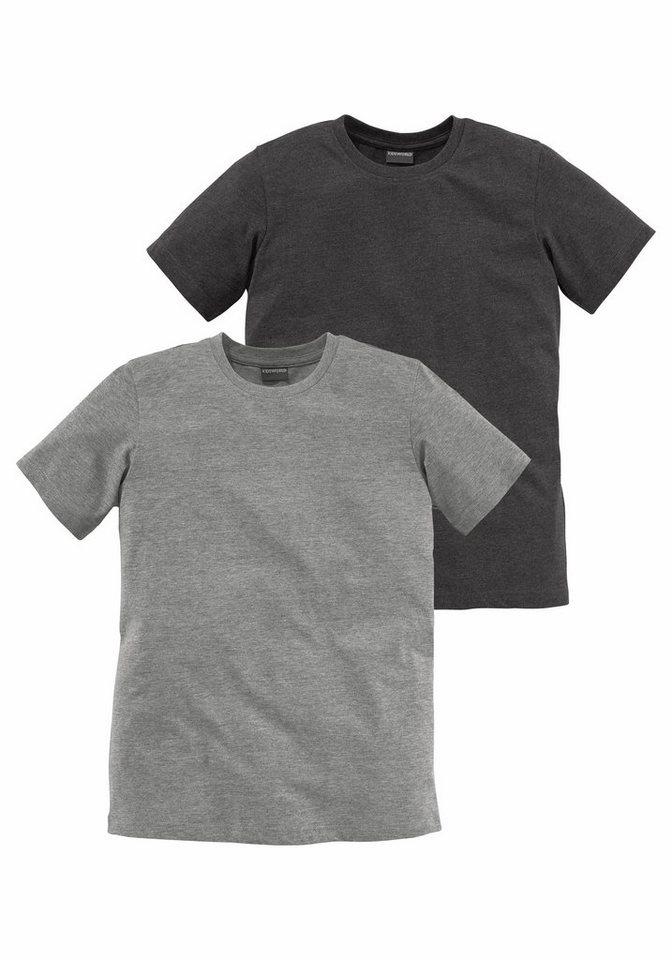KIDSWORLD T-Shirt in melierter Qualität (Packung, 2 tlg.) in anthrazit+grau