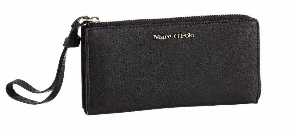 Marc O'Polo Geldbörse mit Handschlaufe in schwarz