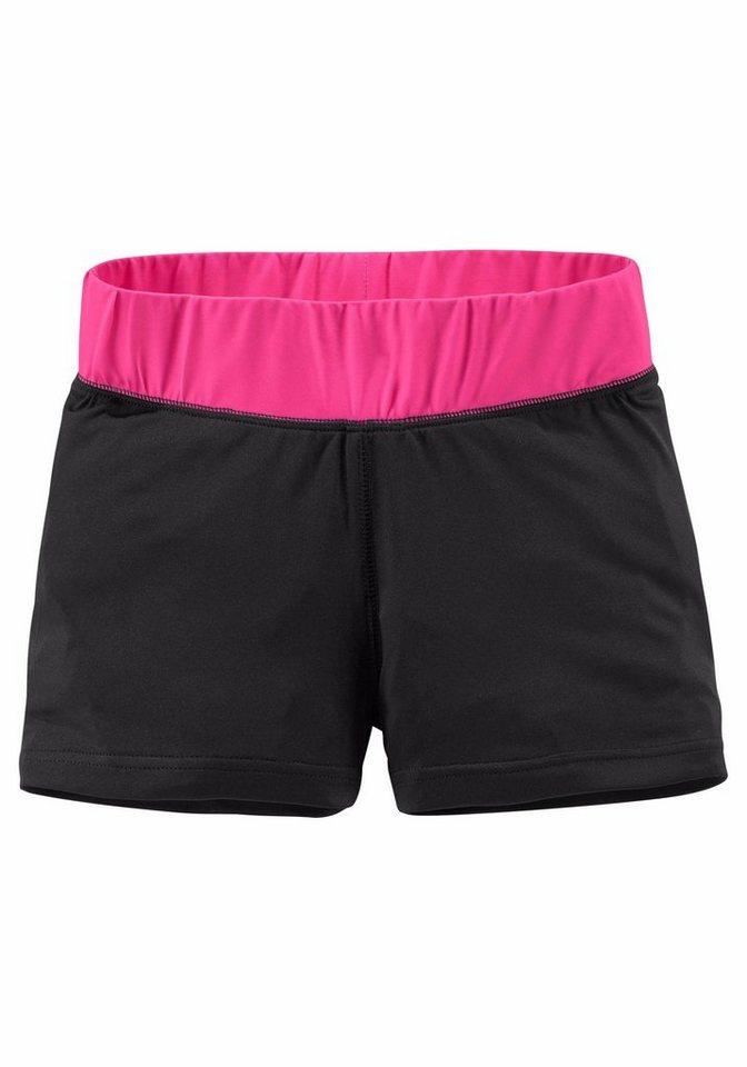 KangaROOS Shorts aus sportlichem, elastischen Material in schwarz