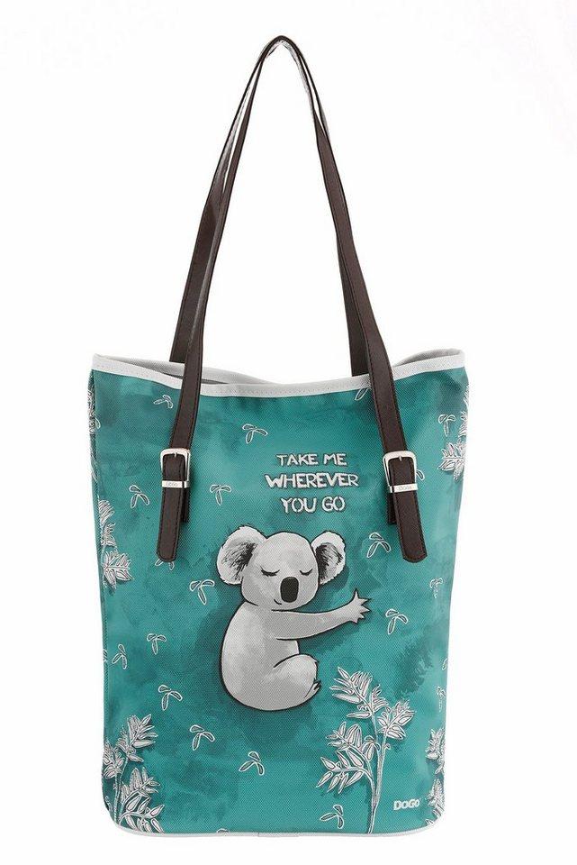 DOGO Shopper »Koala Hug« in türkis-grau