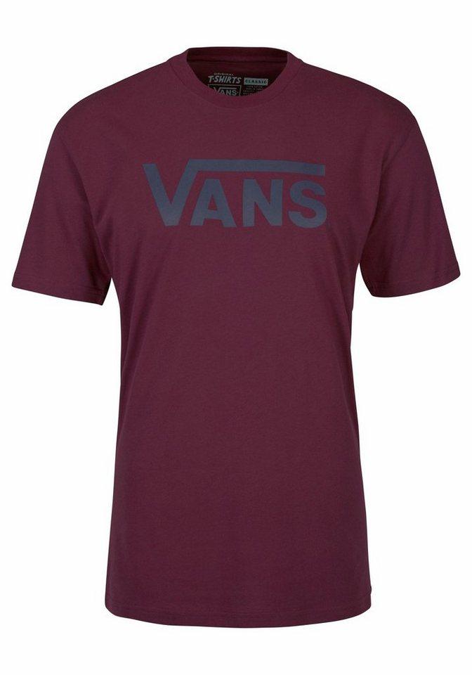 Vans T-Shirt in weinrot