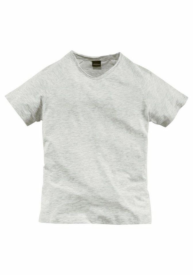 Arizona T-Shirt Mit V-Ausschnitt in offwhite