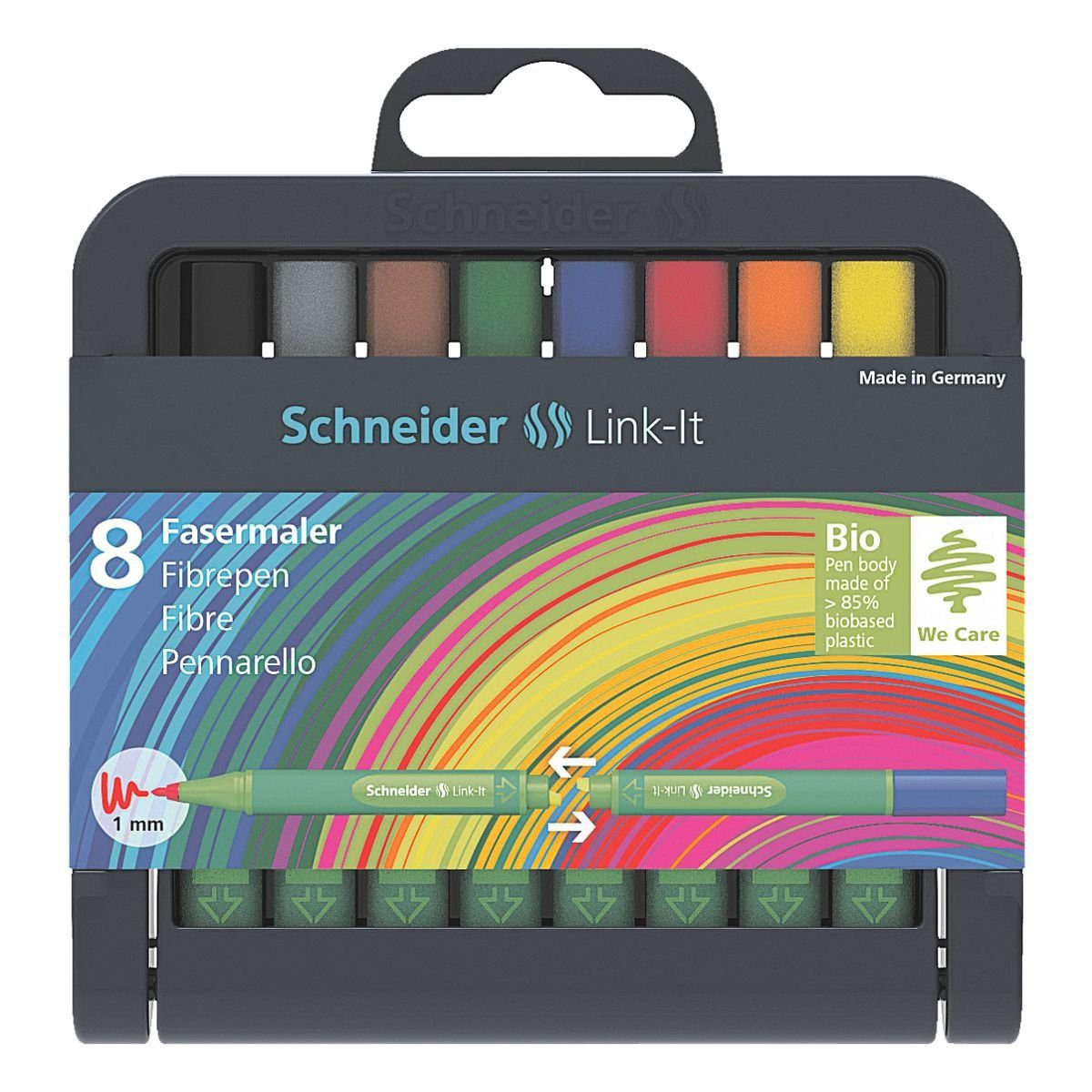 Schneider 8er-Box Fasermaler 1,0 mm »Link-It«