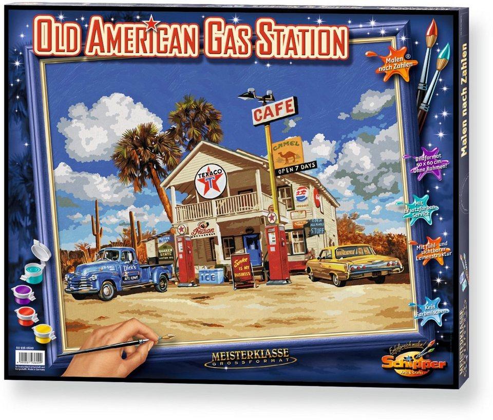 Schipper Malen nach Zahlen, »Meisterklasse Großformat Old American Gasstation«