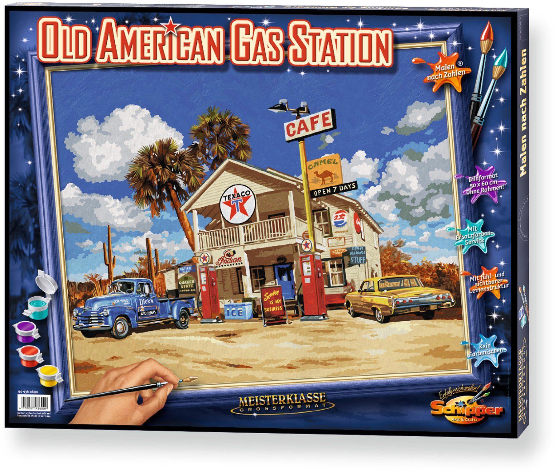 Schipper, Malen nach Zahlen, »Meisterklasse Großformat Old American Gasstation«