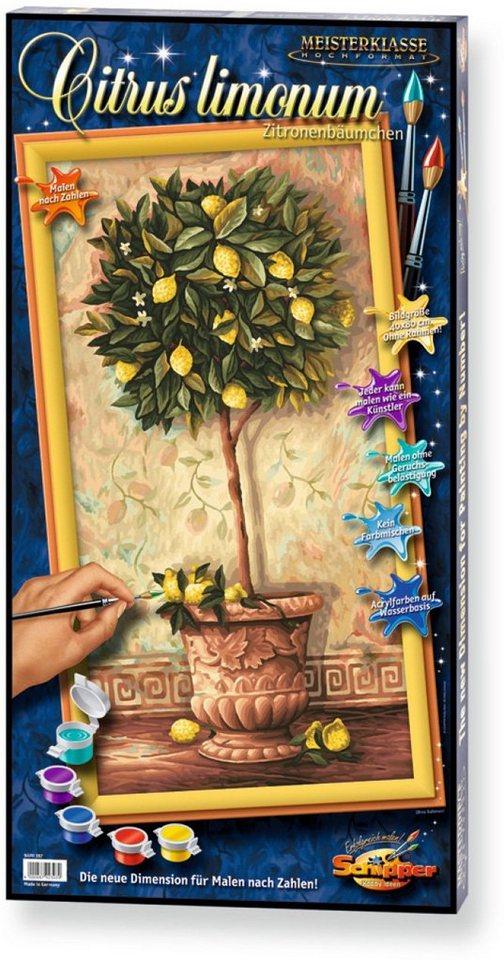 Schipper Malen nach Zahlen, »Meisterklasse Hochformat Citrus limonum«