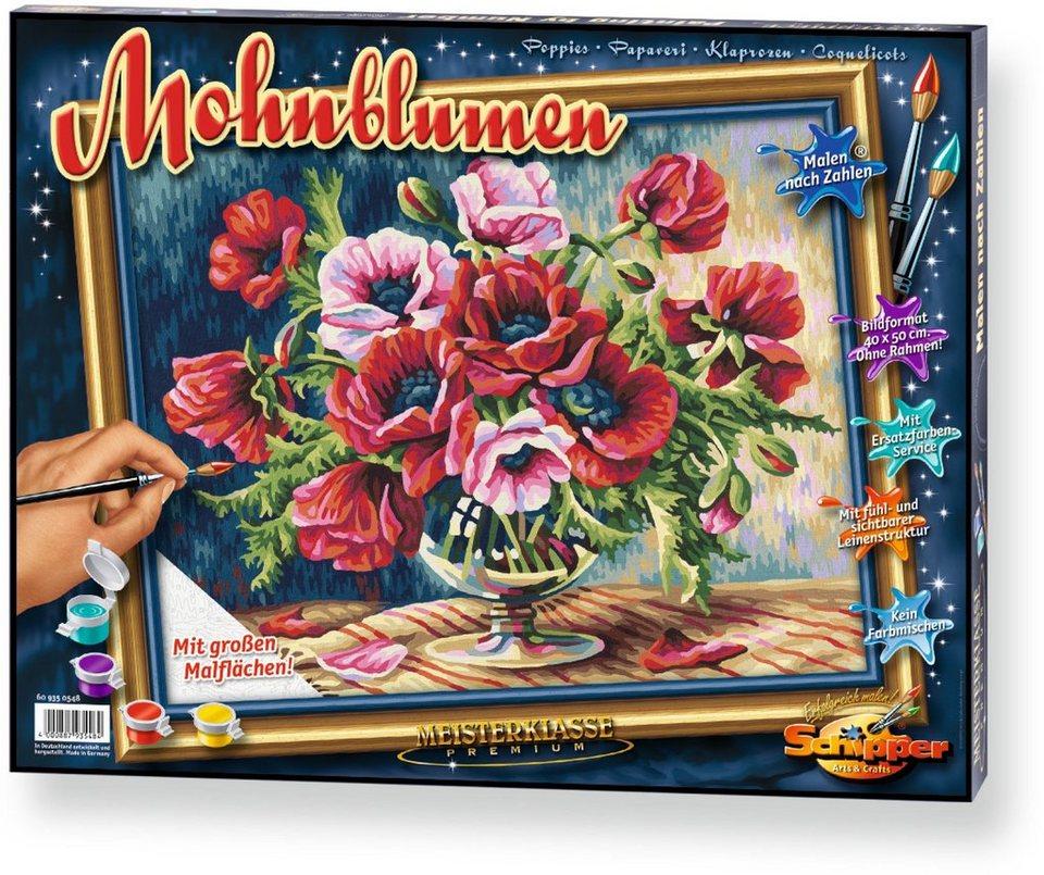 Schipper Malen nach Zahlen, »Meisterklasse Premium Mohnblumen«