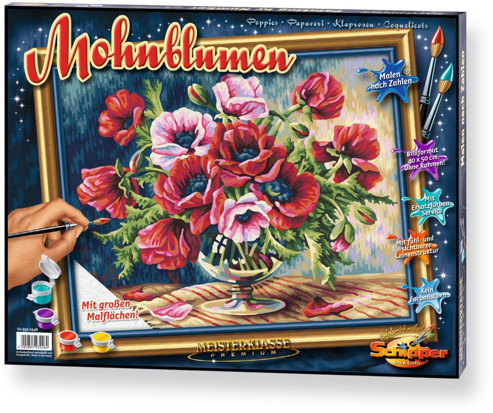 Schipper, Malen nach Zahlen, »Meisterklasse Premium Mohnblumen«