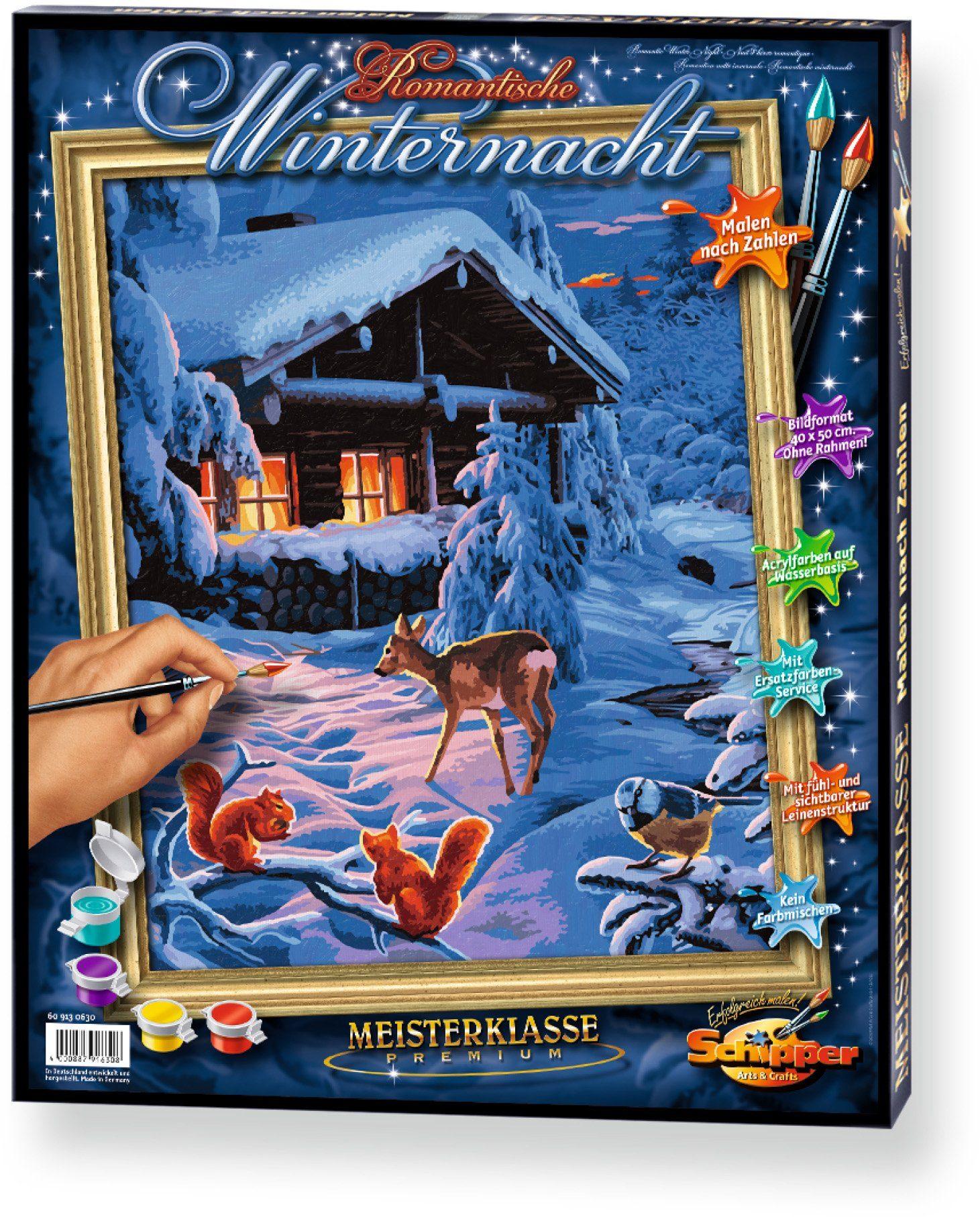 Schipper, Malen nach Zahlen, »Meisterklasse Premium Romantische Winternacht«