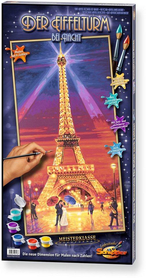 Schipper Malen nach Zahlen, »Meisterklasse Hochformat Der Eiffelturm bei Nacht«