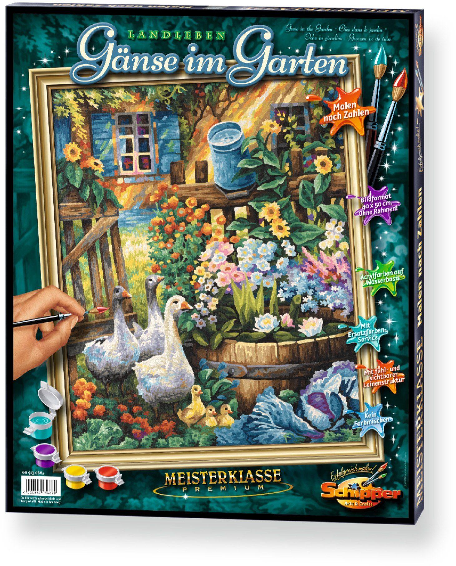 Schipper, Malen nach Zahlen, »Meisterklasse Premium Gänse im Garten«