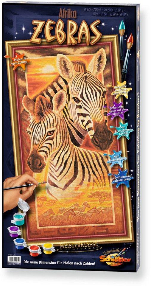 Schipper Malen nach Zahlen, »Meisterklasse Hochformat Zebras«