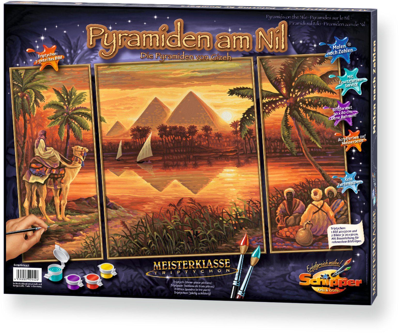 Schipper, Malen nach Zahlen, »Meisterklasse Triptychon Pyramiden am Nil«
