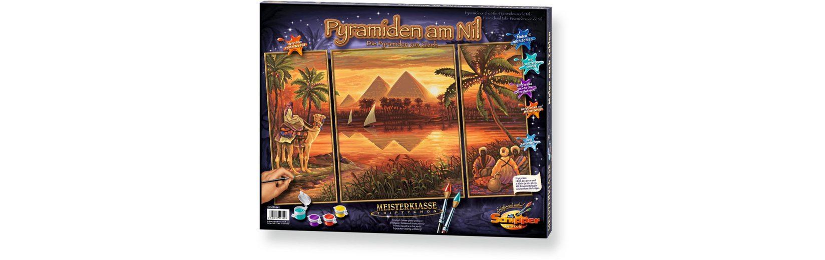 Schipper Malen nach Zahlen, »Meisterklasse Triptychon Pyramiden am Nil«