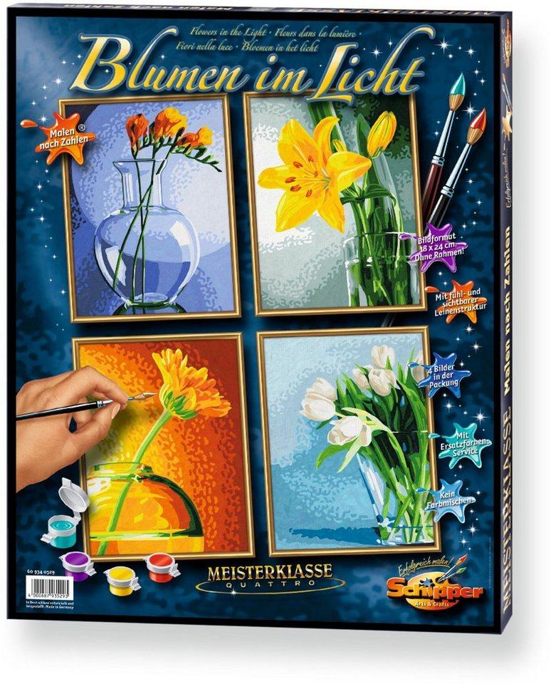 Schipper Malen nach Zahlen, »Meisterklasse Quattro Blumen im Licht«