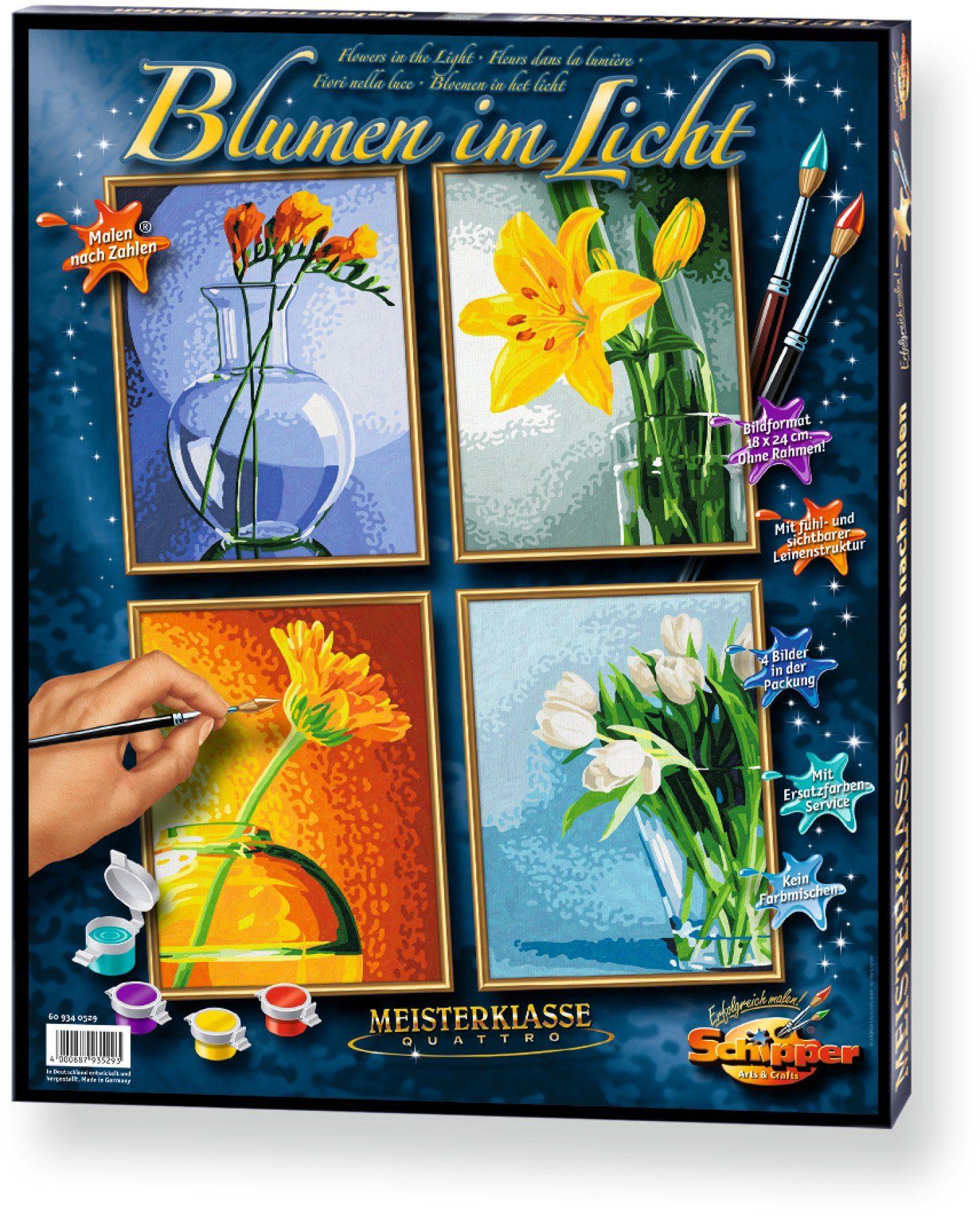 Schipper, Malen nach Zahlen, »Meisterklasse Quattro Blumen im Licht«
