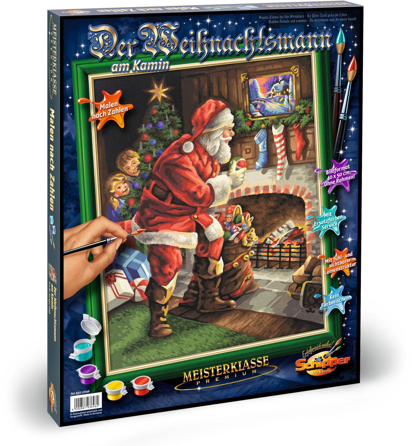 Schipper, Malen nach Zahlen, »Meisterklasse Premium Weihnachtsmann am Kamin«