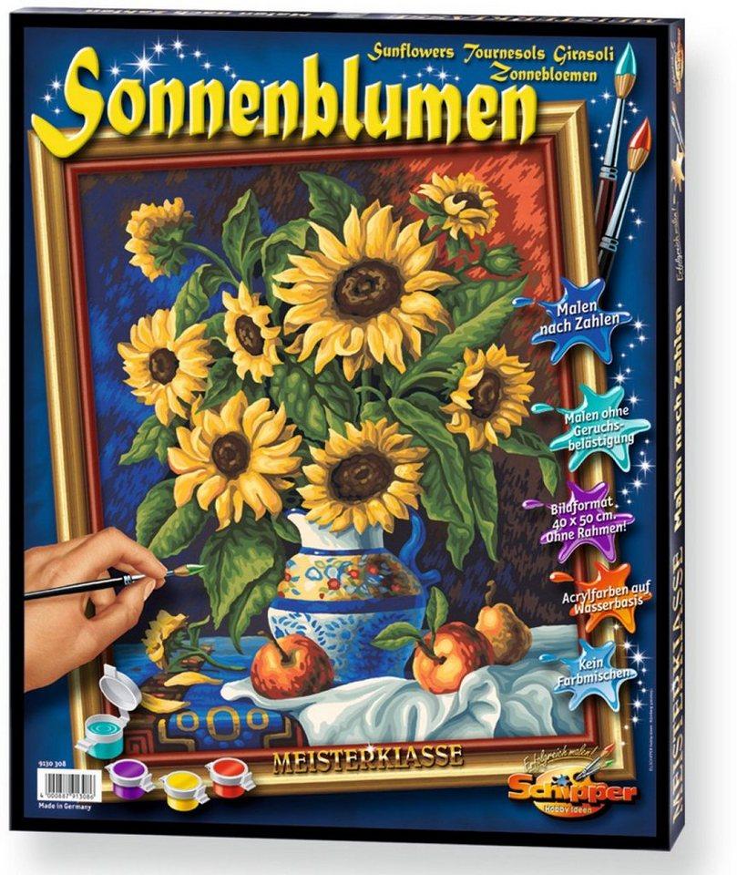 Schipper, Malen nach Zahlen, »Meisterklasse Premium Stillleben mit Sonnenblume«