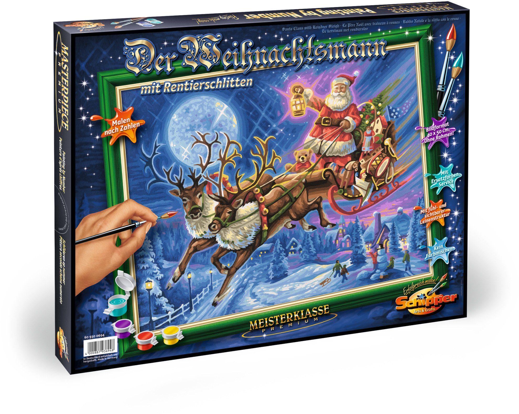 Schipper, Malen nach Zahlen, »Meisterklasse Premium Weihnachtsmann Schlitten«