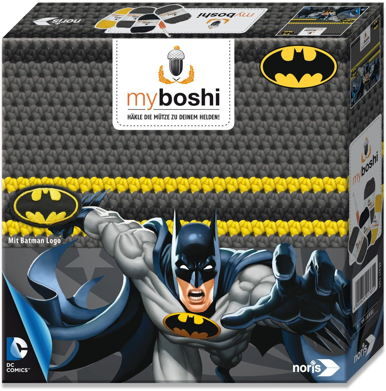 Noris Häkelmütze zum Selberhäkeln, »myboshi Superhelden Batman«