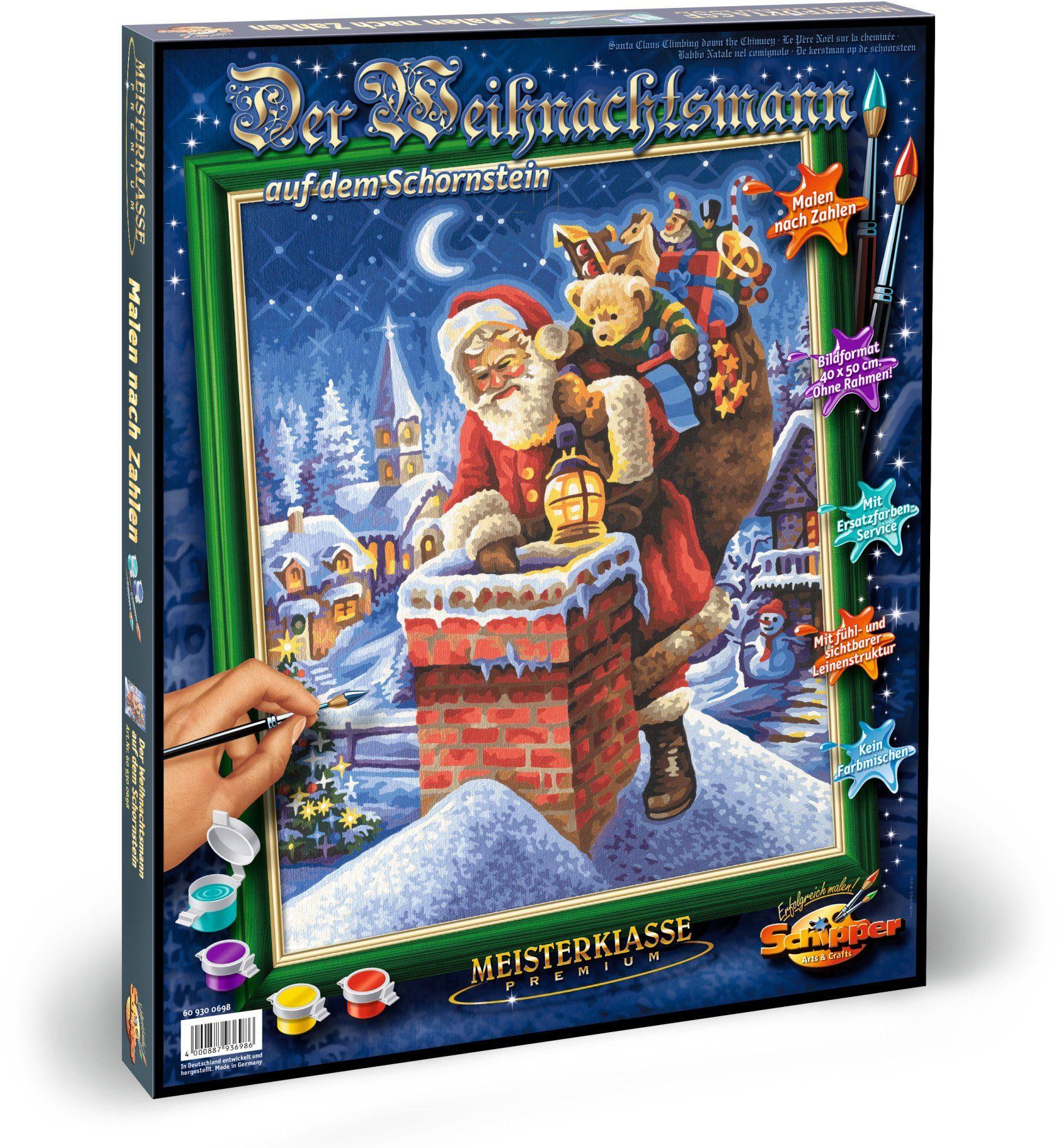 Schipper Malen nach Zahlen, »Meisterklasse Premium Weihnachtsmann Schornstein«