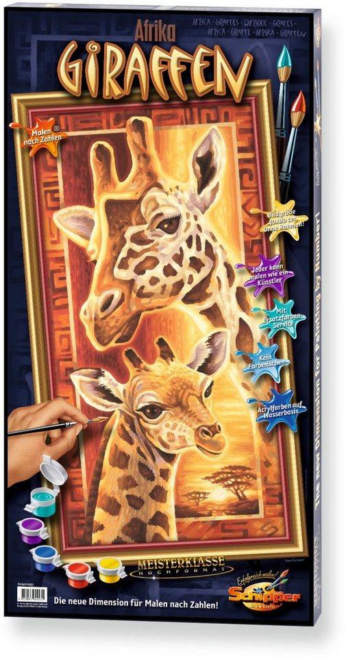 Schipper Malen nach Zahlen, »Meisterklasse Hochformat Giraffen«
